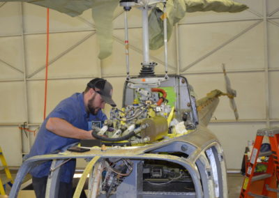 Wysong Helicopter Maintenance Work