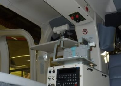 Helicopter Medical Interior med wall