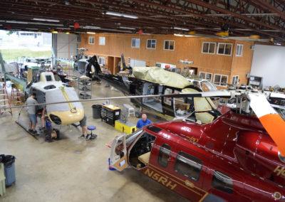 Maintenance in Hangar 4