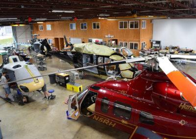 Maintenance in the hangar 2