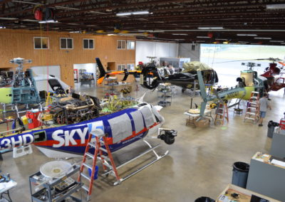 Maintenance in the hangar