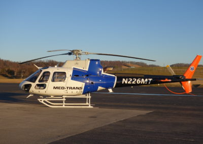 Med Trans AS350 New Paint