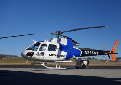 Med Trans AS350 New Paint front image